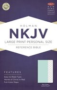 NKJV Large Print Personal Size Red Lettered Reference Bible Mint Green Leathertouch Imitation Leather