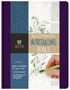 HCSB Illustrator's Notetaking Bible Purple Linen Fabric Over Hardback