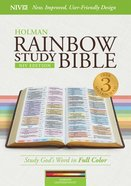 NIV Rainbow Study Bible Maroon Indexed Imitation Leather