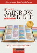 KJV Rainbow Study Bible Cocoa/Terra Cotta/Ochre Indexed Imitation Leather
