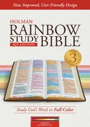 KJV Rainbow Study Bible Maroon Indexed Imitation Leather