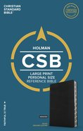 CSB Large Print Personal Size Reference Bible Black Indexed