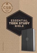 CSB Essential Teen Study Bible Charcoal Leathertouch Imitation Leather