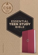 CSB Essential Teen Study Bible Rose Leathertouch Imitation Leather