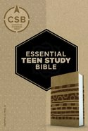 CSB Essential Teen Study Bible Personal Size Aztec Leathertouch Imitation Leather