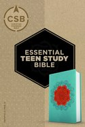 CSB Essential Teen Study Bible Personal Size Coral Flower Leathertouch Imitation Leather