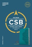 CSB Super Giant Print Reference Bible Teal Indexed Imitation Leather