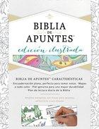 Rvr 1960 Biblia De Apuntes Edicin Ilustrada Blanco En Tela Para Colorear Hardback