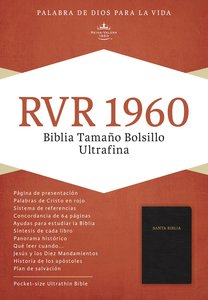 Spanish Rvr 1960 Pocket Size Black (Red Letter Edition)