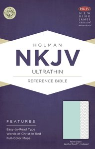 NKJV Ultrathin Reference Indexed Bible Mint Green
