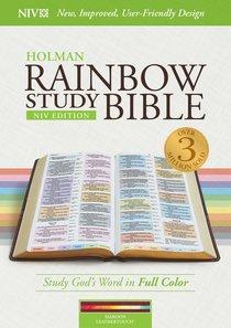 NIV Rainbow Study Bible Maroon Indexed