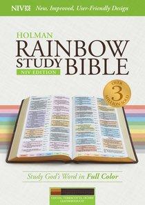 NIV Rainbow Study Bible Cocoa/Terra Cotta/Ochre Indexed