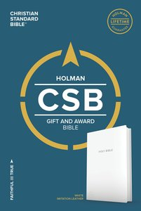 CSB Gift & Award Bible White Red Letter Edition