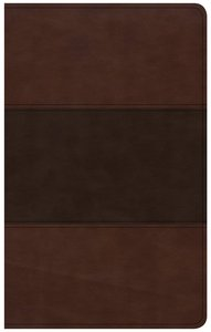 CSB Ultrathin Reference Bible Saddle Brown Indexed