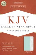 KJV Large Print Compact Mint Green Premium Imitation Leather