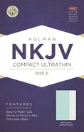 NKJV Compact Ultrathin Red Lettered Bible Mint Green Leathertouch Imitation Leather