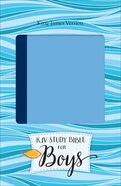 KJV Study Bible For Boys Blue/Light Blue Duravella (Red Letter Edition) Imitation Leather