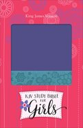 KJV Study Bible For Girls Grape/Surf Blue, Floral Design Duravella (Red Letter Edition) Imitation Leather