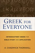 Greek For Everyone Paperback