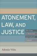 Atonement, Law, and Justice Paperback