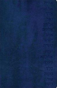 Gods Word Names of God Bible Midnight Blue, Hebrew Name Design Duravella