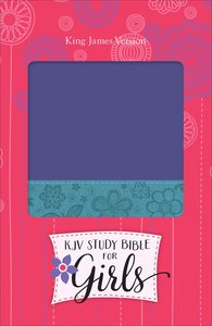 KJV Study Bible For Girls Grape/Surf Blue, Floral Design Duravella (Red Letter Edition)