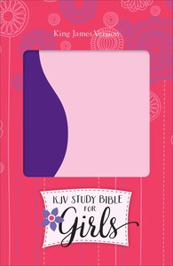 KJV Study Bible For Girls Purple/Pink Duravella (Red Letter Edition)