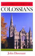 Colossians (Geneva Series Of Commentaries) Hardback