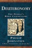 Deuteronomy (People's Bible Commentary Series)