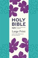 NIV Large Print Single Column Deluxe Reference Bible Paperback