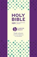 NIV Larger Print Compact Anglicised Bible Purple Soft-Tone Paperback