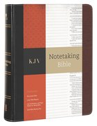 KJV Notetaking Bible Black/Brown Bonded Leather