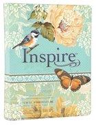 NLT Inspire Creative Journaling Bible Blue Cream