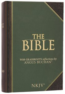 NKJV Bible With Grassroots Reflections By Angus Buchan