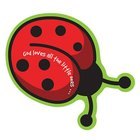 Magnet Laedee Bugg Die-Cut: Ladybug - God Loves All the Little Ones...