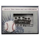 Wooden Photo Frame: Baseball I Can Do All Things Through Christ (Phil 4:13)