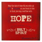 Wooden Block Plaque: Hope (Red)