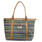 Canvas Chevron Tote Bag: Faith 2 Corinthians 5:7