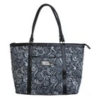 Gray Quilted Paisley Tote Bag: Trust (Proverbs 3:5)