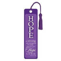Bookmark With Tassel: Hope (Silver Foiled)