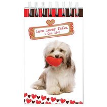 Notepad: Cute Animal With Hearts & Scripture