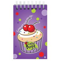 Laedee Bugg Notepad: Cupcake With Scripture
