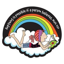 Magnet Laedee Bugg Die-Cut: Rainbow - Anything is Possible If a Person Believes
