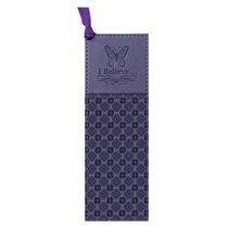 Bookmark: I Believe Butterfly Luxleather