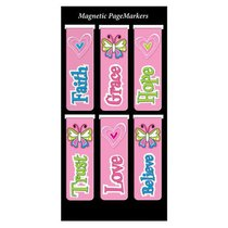 Magnetic Bookmarks Set of 6: Little Miss Grace #02