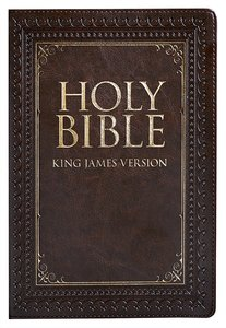 KJV Large Print Thinline Bible Brown Red Letter Edition