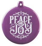 Hand-Drawn Art Ornaments: Peace and Joy (Purple)