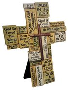Cast Stone Cross: Stacked Stone Look Homeware
