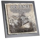Moments of Faith Stone Sculpture Plaque: His Peace, Mark 4:39 Homeware