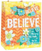 Gift Bag Medium: Believe, Matching Tissue Paper Stationery